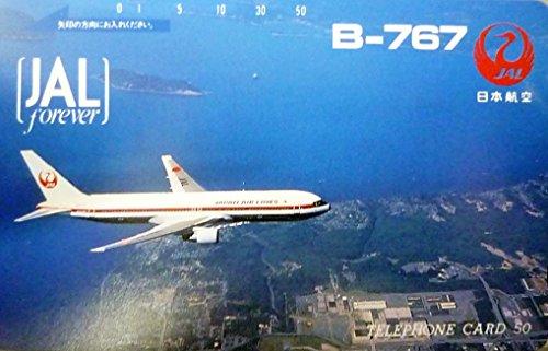 [해외]전화 카드 | 전화 카드 JAL forever 항공 B-767 제트 비행기 50 도수/Telephone Card | Telephone JAL forever Japan Airlines B-767 Jet Airplane 50 Frequency