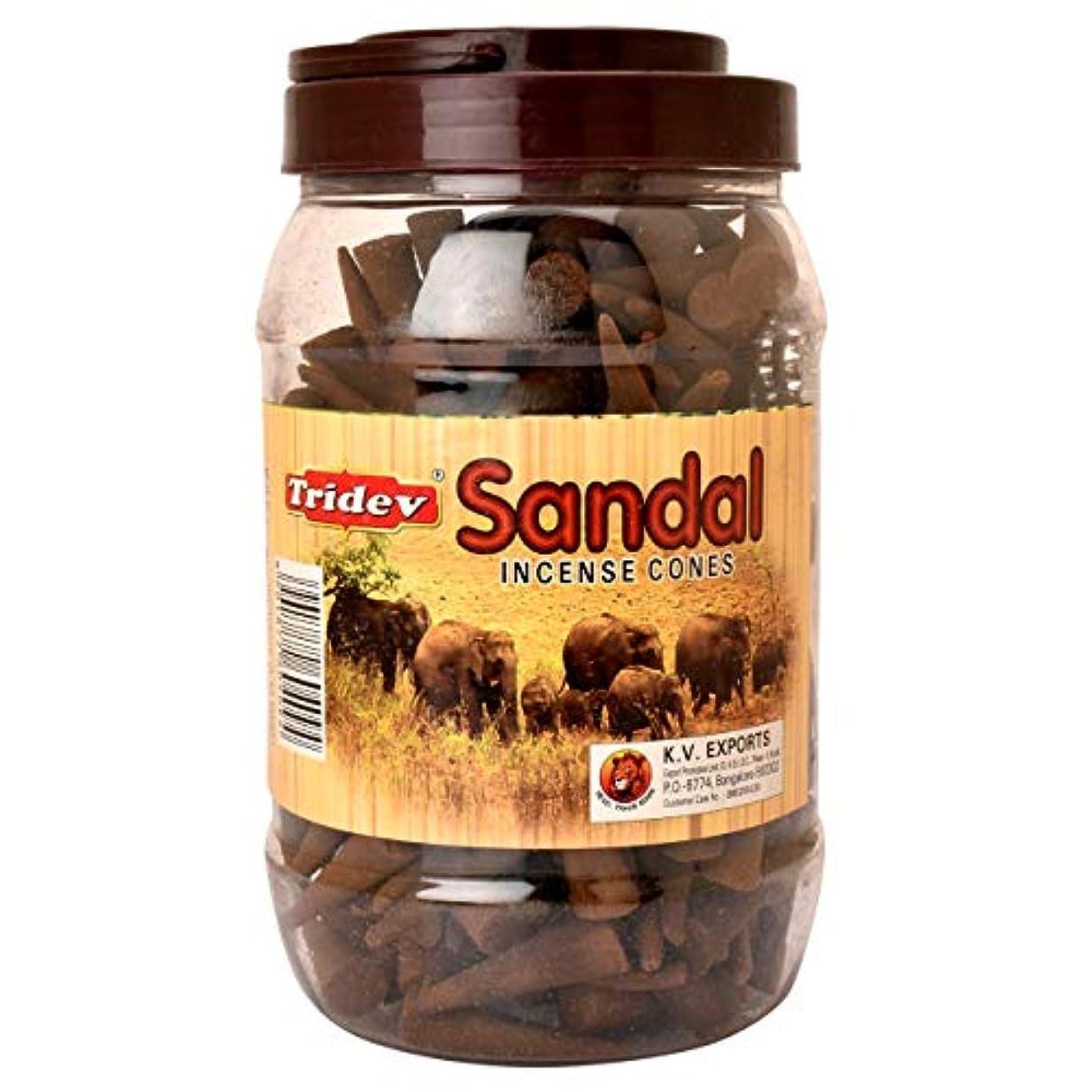 むちゃくちゃ擁するペデスタルTridevサンダルIncense Cones Jar 500グラムパック