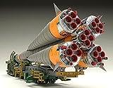1/150プラスチックモデル ソユーズロケット+搬送列車 1/150スケール PS製 組み立て式プラスチックモデル 画像