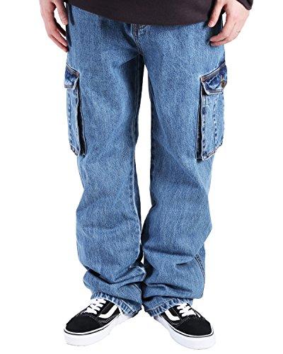 (バレッタ) Valletta メンズ KINGサイズ デニム カーゴパンツ ビッグ ワイドパンツ 大きいサイズ [メンズ] サックス 5Lサイズ
