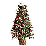 タンスのゲン クリスマスツリー 150cm LEDイルミネーション オーナメント 飾り付き 1691001300