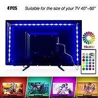 PANGTON VILLA LEDストリップライト 6.56フィート 40-60インチテレビ用 USB LEDテレビバックライトキット リモコン付き 16色に変化 5050LEDバイアス照明 HDTV用