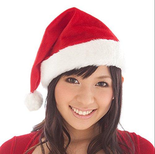 Ayamaya サンタ 帽子 2個セット サンタクロース クリスマスコスプレ 変装 サンタに変身 パーティーに! イベント 仮装 コスチューム キッズ クリスマスプレゼント -