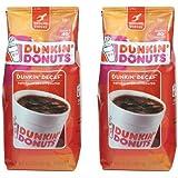 Dunkin Donut Coffee ダンキン ドーナツ コーヒー (デカフェ x 2) [並行輸入品]
