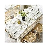 テーブルクロス、コットンのシーツリンクルフリーフェード防止洗える長方形テーブルカバー装飾用キッチンダイニングパーティー (Color : B, Size : 130cm*200cm)