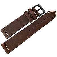 ColaReb 20mm Spoleto ショート ダークブラウン レザー PVD バックル 腕時計ベルト