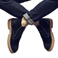 ワークブーツ メンズ マーティンシューズ カジュアル かっこいい ファッション モカシン ブラック グレー ブラウン 黒 身長アップ 滑り止め 防水 歩きやすい 通気 紳士靴 通学運転 普段履き 全3色 24cm-27cm