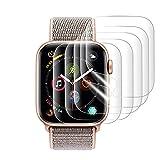 『改善版全面保護』AUNEOS Apple Watch Series 4 フィルム 44mm Apple Watch 保護フィルム TPU製 高透過率 耐指紋 24時間内気泡自動消え アップルウォッチ フィルム(Series 4 44mm 5枚)