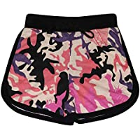 Kids Girls Shorts 100% Cotton Gym Sports Camouflage Baby Pink Summer Hot Pants