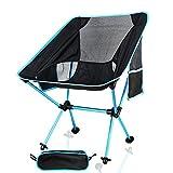 IDEAPRO折りたたみ椅子 ウルトラライトチェア コンパクトアウトドアチェアキャンプ イス 軽量 専用収納バッグ付き (ブルー)