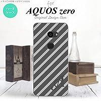 801SH AQUOS zero 801SH スマホケース カバー ストライプ グレー 【対応機種:AQUOS zero 801SH 801SH】【アルファベット [M]】