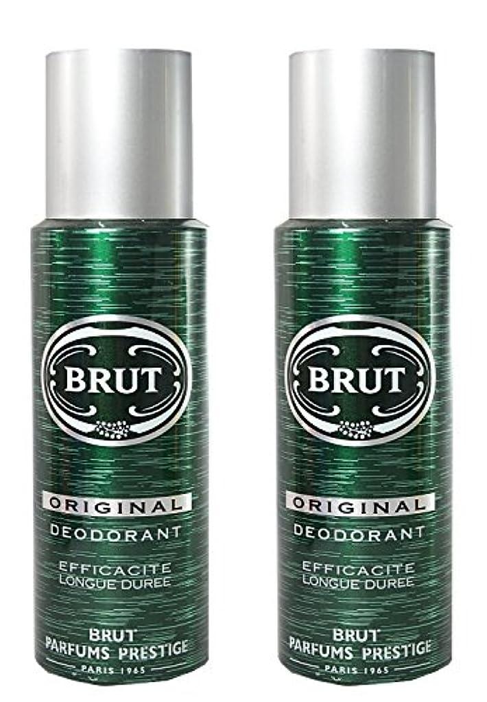 教える農学顕微鏡BRUT Original Deodorant Spray For Men, 200ml (Pack of 2)