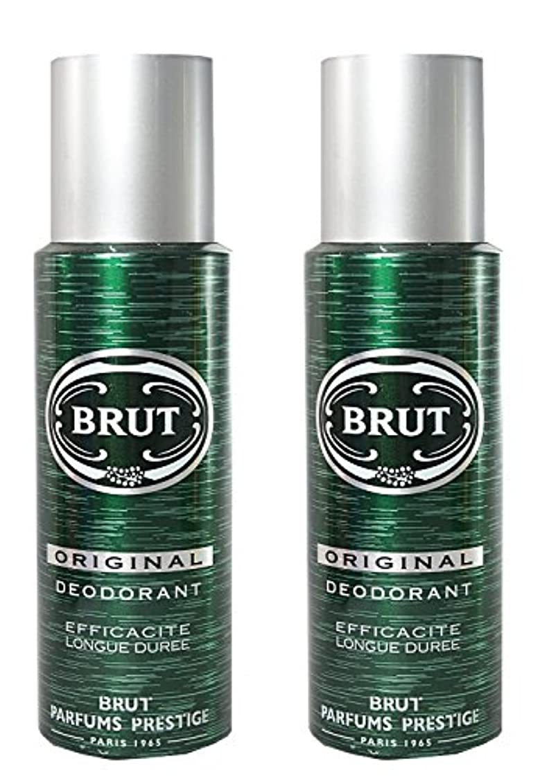 旋律的付添人柔和BRUT Original Deodorant Spray For Men, 200ml (Pack of 2)