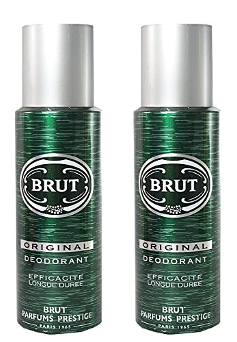 金曜日刺激するブラザーBRUT Original Deodorant Spray For Men, 200ml (Pack of 2)