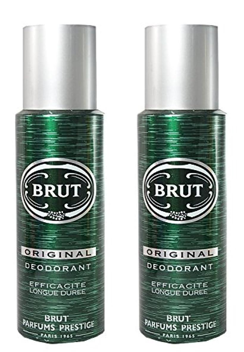 舌検出温かいBRUT Original Deodorant Spray For Men, 200ml (Pack of 2)