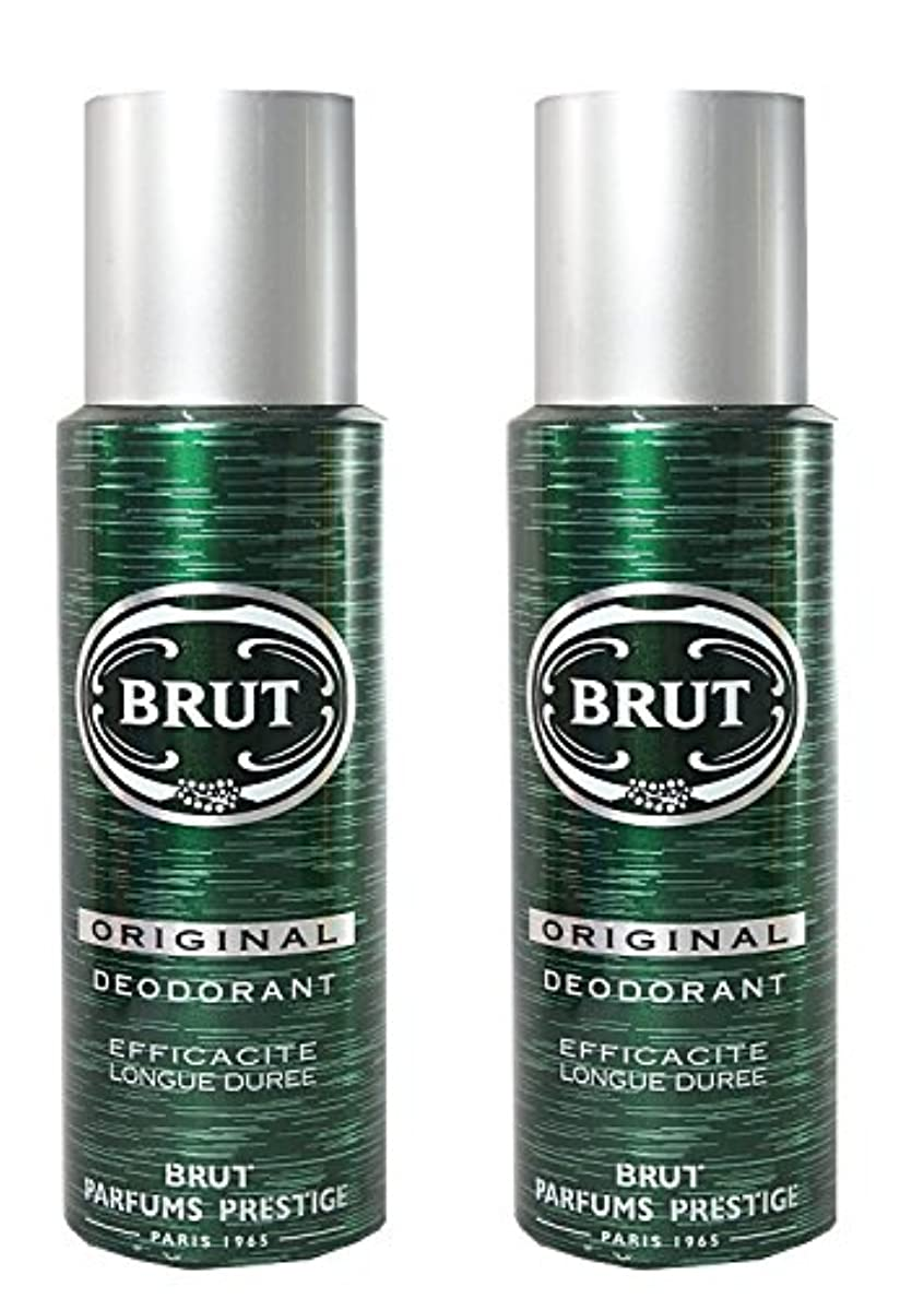 の前でキルト難破船BRUT Original Deodorant Spray For Men, 200ml (Pack of 2)
