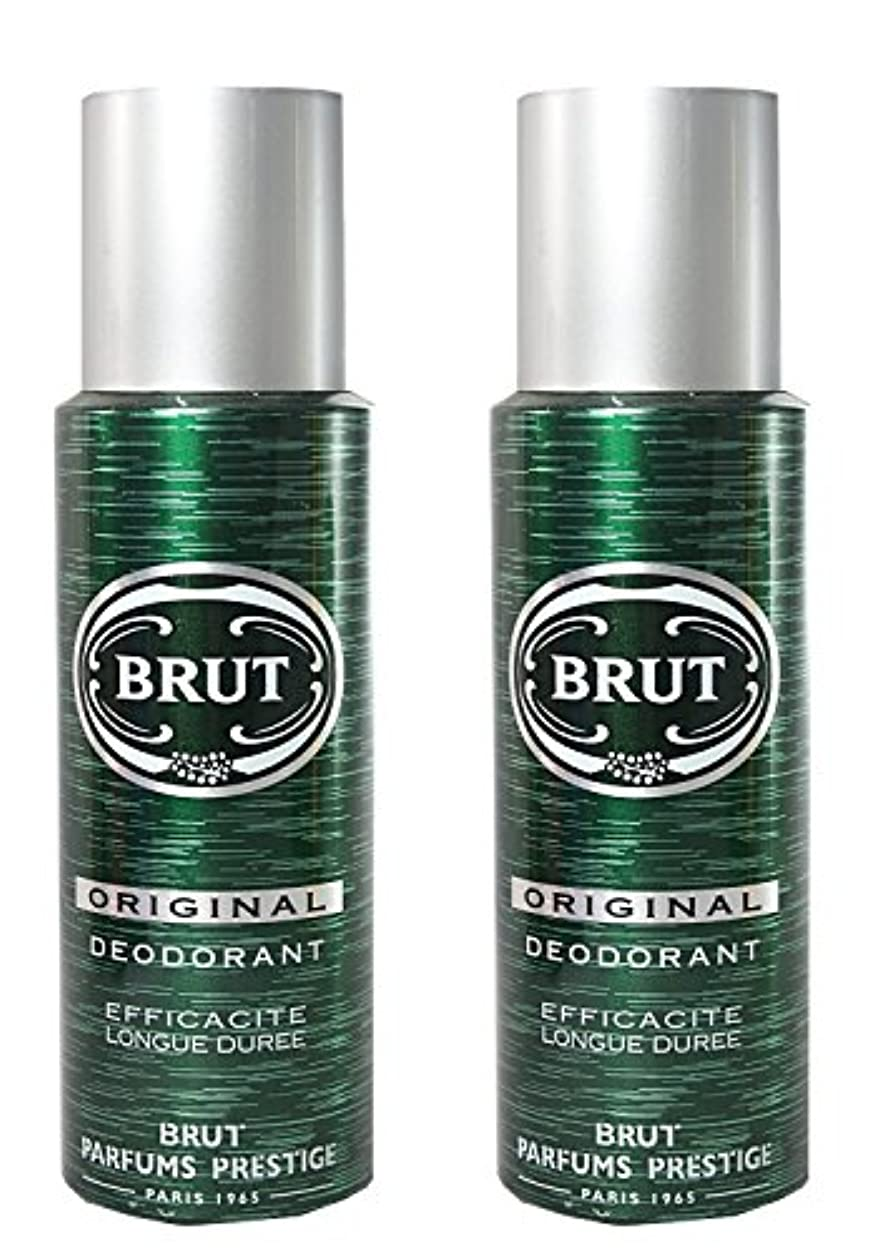 求人篭ロッカーBRUT Original Deodorant Spray For Men, 200ml (Pack of 2)