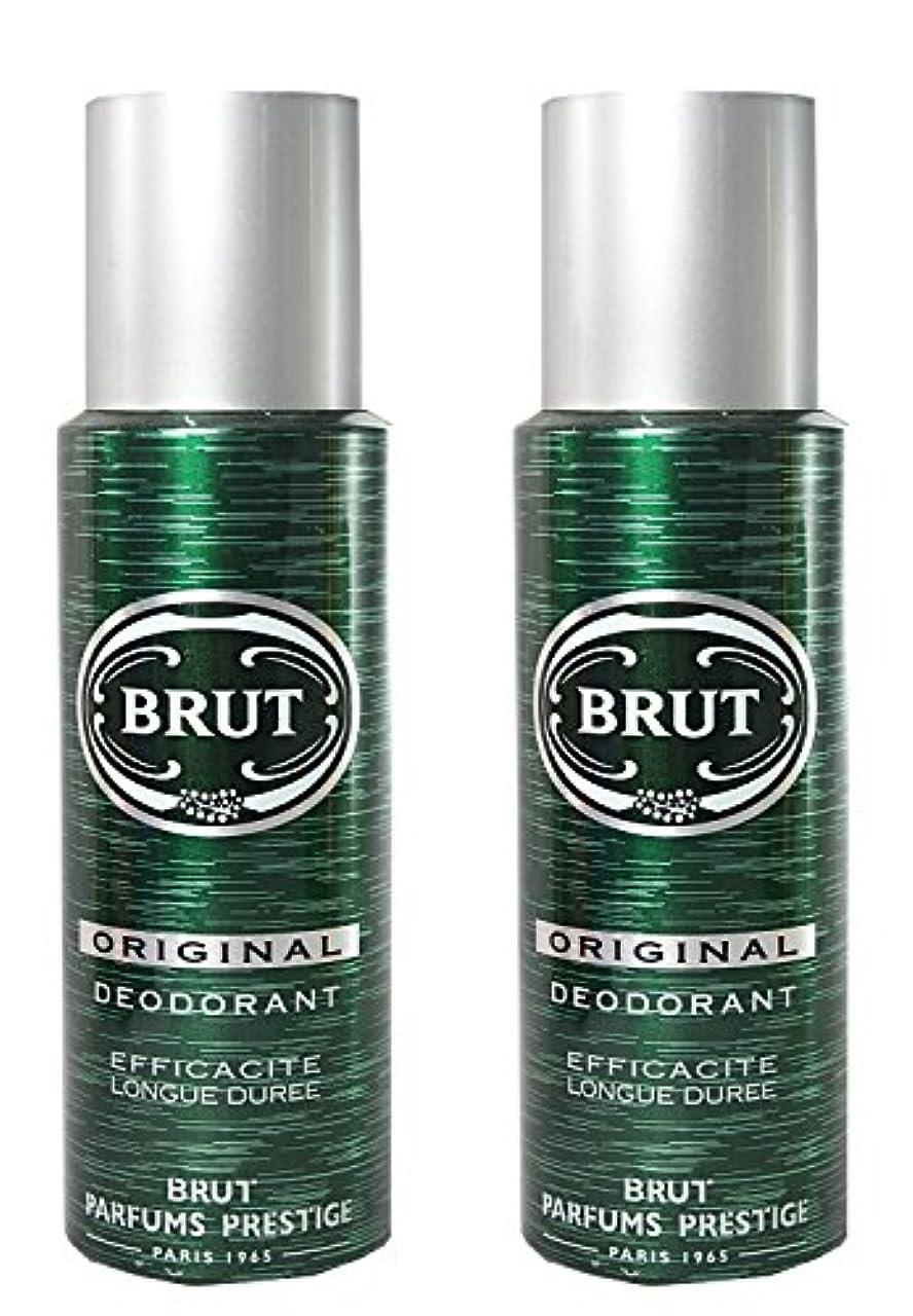 孤独な砲兵両方BRUT Original Deodorant Spray For Men, 200ml (Pack of 2)