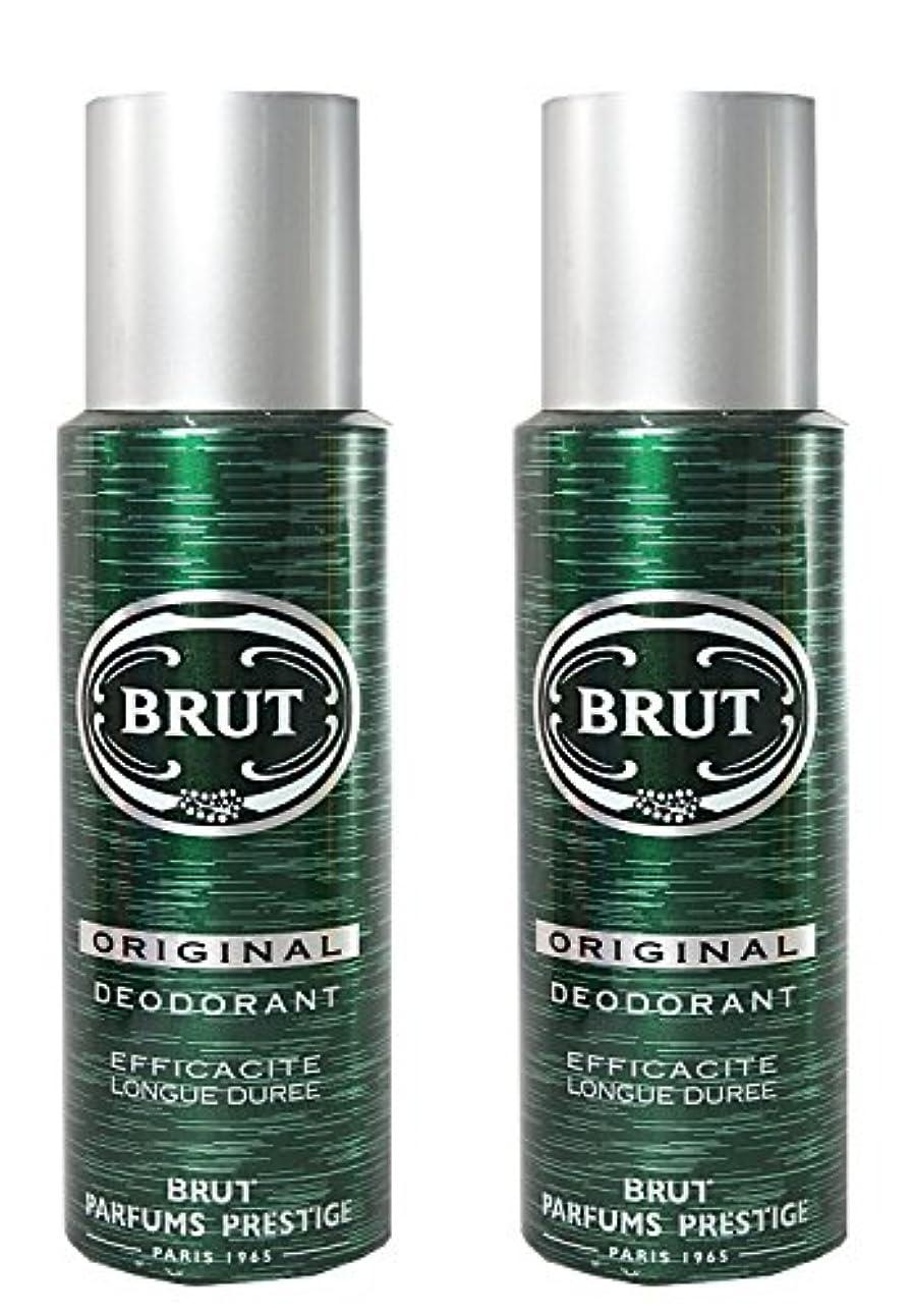 変更可能申込み擬人化BRUT Original Deodorant Spray For Men, 200ml (Pack of 2)