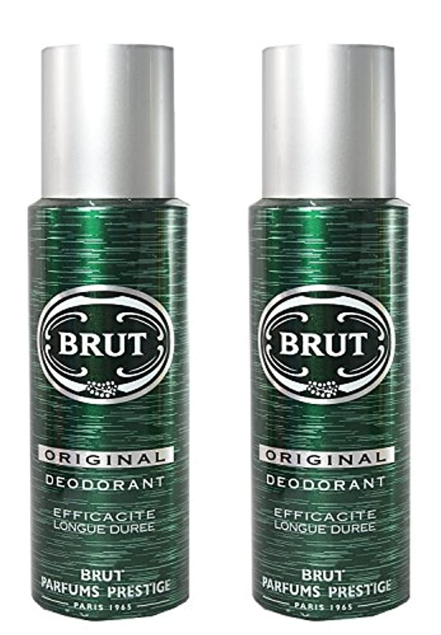 妊娠したに渡ってプレゼンBRUT Original Deodorant Spray For Men, 200ml (Pack of 2)