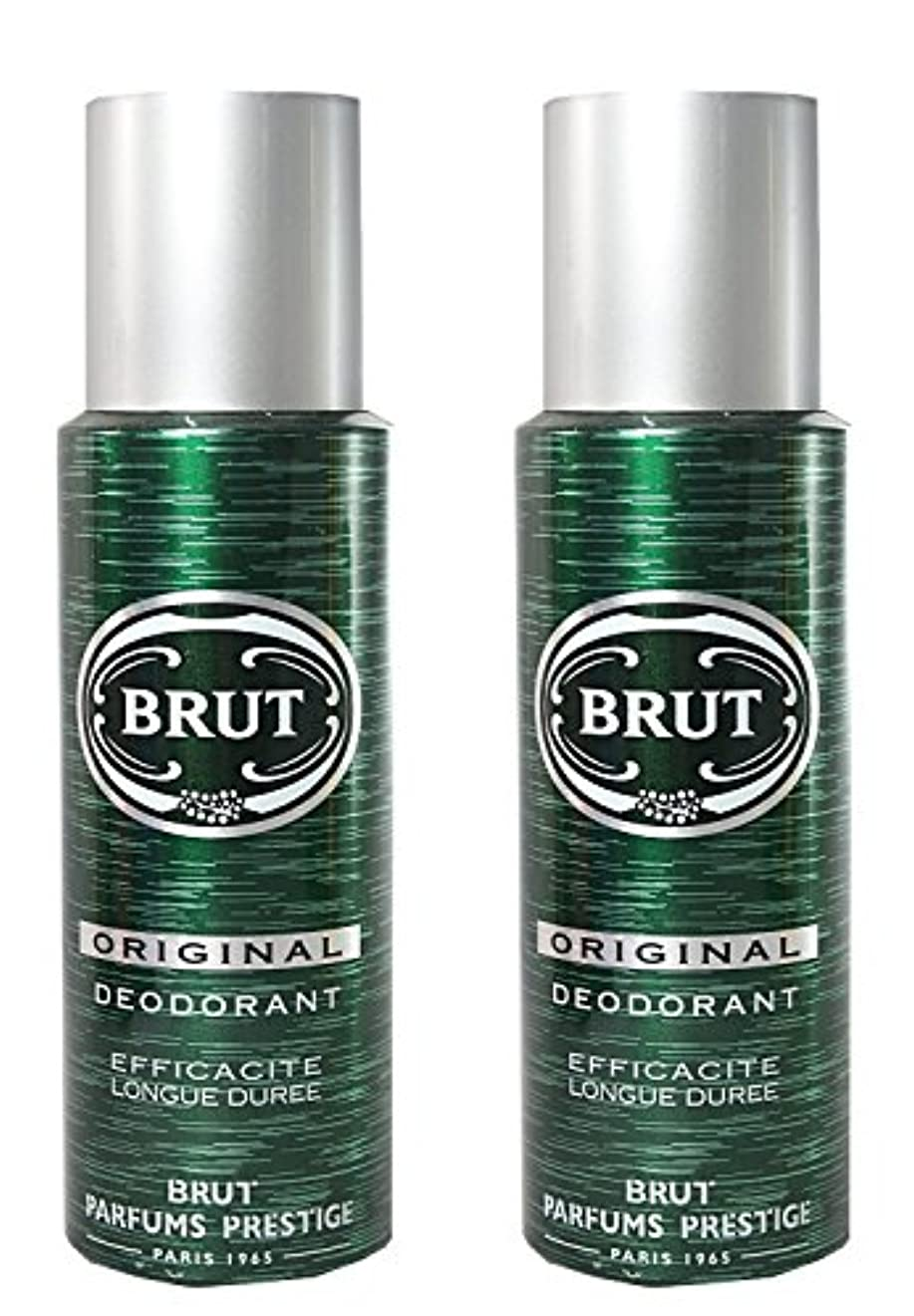 普通のささいなモンスターBRUT Original Deodorant Spray For Men, 200ml (Pack of 2)