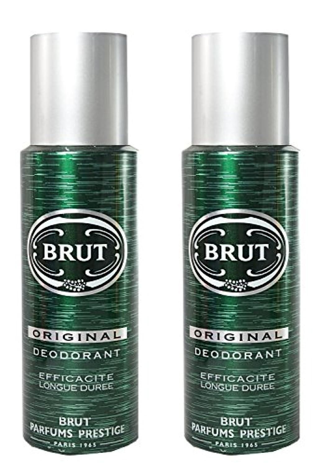 靴下器官白いBRUT Original Deodorant Spray For Men, 200ml (Pack of 2)