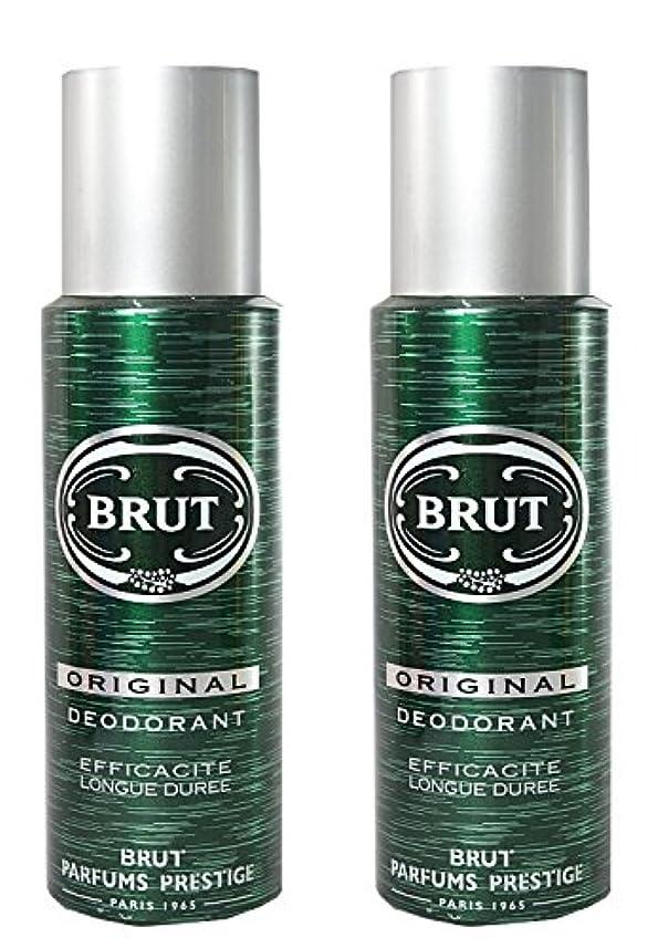 突進ヒール悩むBRUT Original Deodorant Spray For Men, 200ml (Pack of 2)