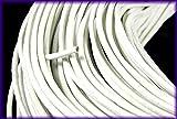丸革紐 リアルレザー レザーコード 白色(ホワイト)1.5mm 5m ラップブレス 牛革 本革