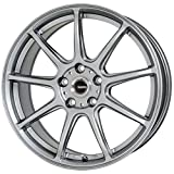 HOT STUFF(ホットスタッフ)G、speed (ジースピード)G-01 アルミホイール4本セット 18インチ7.5J INSET53 PCD100 HOLE5 カラー:メタリックシルバー