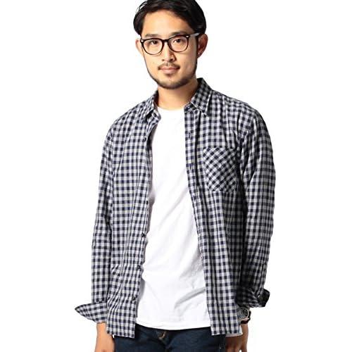 (ビームス) BEAMS / ギンガムチェック ミニレギュラーカラー シャツ 11112530301  NAVY L