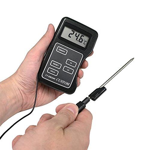 カスタム (CUSTOM) 防滴デジタル温度計 センサー分離型 IPX4準拠 CT-280WR