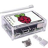 Kuman Raspberry Pi ディスプレイ タッチスクリーン 3.5インチ ケース ヒートシンク Pi 3B 2B B A A B 用