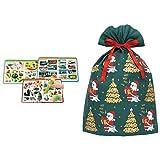 アンパンマン おしゃべりものしり図鑑セット + インディゴ クリスマス ラッピング袋 グリーティングバッグ4L メリーサンタ ダークグリーン XG605