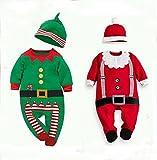 【Cos RuRu】 サンタ仮装 新生児 赤ちゃん キッズ 子供用クリスマス衣装 超可愛いキッズサンタ衣装 コスチューム仮装 CR1235 (80cm, グリーン)