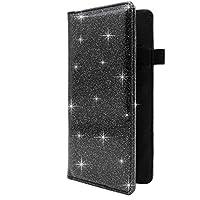 Menesia Checkbook Cover for Men & Women RFID Glitter Leather Check Book Holder Wallet