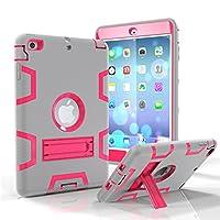 iPad MiniケースiPad mini 2ケースiPad mini 3ケース、Kamii [ロボットシリーズ]衝撃吸収/高衝撃性ハイブリッド3つLayer Armor Defenderフルボディ保護