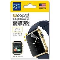 Wrapsol(ラプソル)ULTRA(ウルトラ)衝撃吸収フィルム Apple Watch対応【2枚入り】(42mm) A005-IWC42
