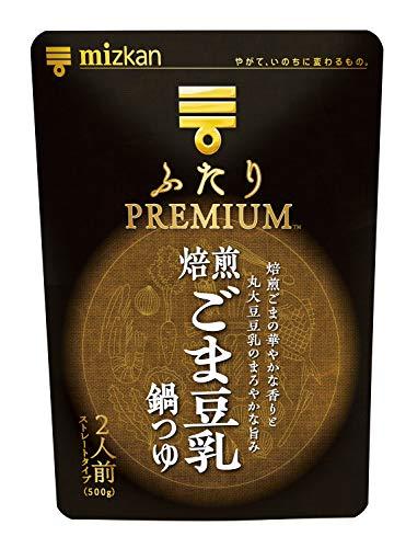 ミツカン ふたりPREMIUM焙煎ごま豆乳鍋つゆ 500g ...