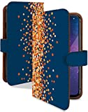 G2 L-01F ケース 手帳型 キンモクセイ ネイビー 花柄 はながら スマホケース ジーツー 手帳 カバー G2 l01f l01fケース l01fカバー フラワー 花 シンプル 小花柄 [キンモクセイ ネイビー/t0151b]