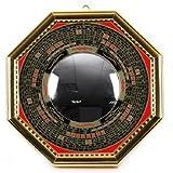 八卦羅盤凸面鏡★(金)(大)[風水・開運グッズ/玄関/置物・飾り物・鏡/開運]