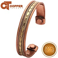 Copper Therapy Tibetan Copper Bracelets Magnetic Indian Spiritual Jewelry Joint Pain Relief Arithritis Therapy