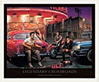 ポスター クリス コンサニ Legendary Crossroads 額装品 ウッドベーシックフレーム(ホワイト)