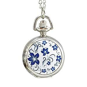 [モノジー] MONOZY ネックレス 時計 ふた付き (白)