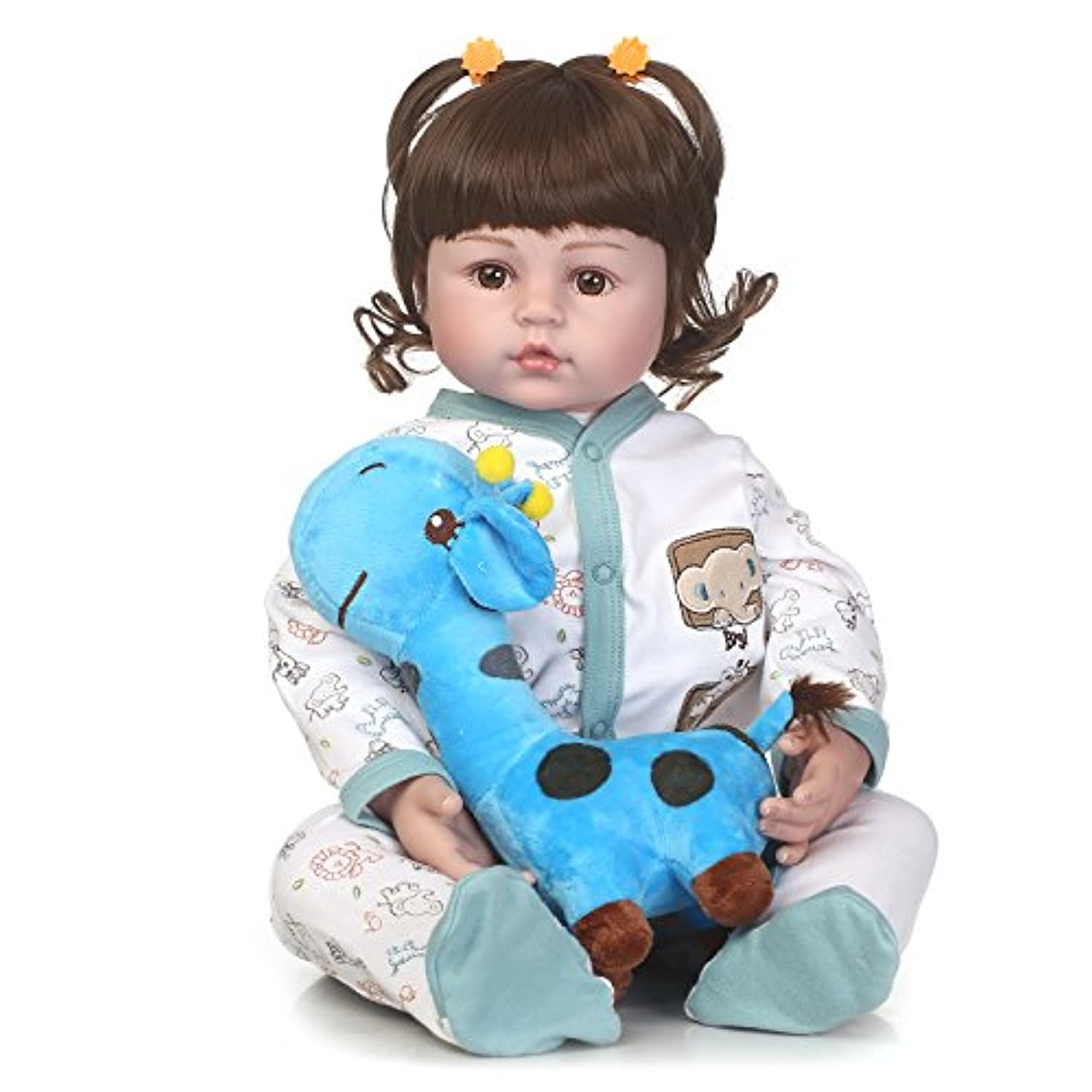 SanyDoll Rebornベビー人形ソフトSilicone 22インチ55 cm磁気Lovely Lifelike Cute Lovely Baby b0763lpd1 K