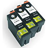 EPSON(エプソン) 高品質 互換インクカートリッジ IC61 ブラック3本セット 残量表示機能付 Angelshopオリジナル (JAN:4580400481518)