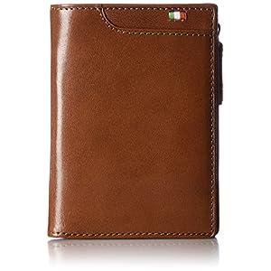 [ミラグロ] 財布 二つ折り財布 小銭入れ タンポナートレザーシリーズ CA-S-571 BR ブラウン