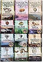 Winston Graham Poldark Series 12 Books Collection Set (Ross Poldark Demelza Jeremy Poldark Warleggan The Black Moon The Four Swans The Angry Tide The Stranger From The Sea The Miller's Dance..【洋書】 [並行輸入品]