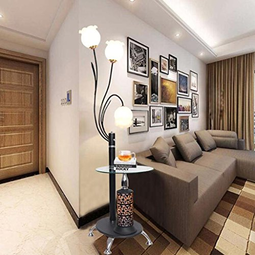 MILUCE 床のコーヒーテーブルランプのリビングルームシンプルなモダンな寝室LED垂直ランプ創造的な北欧フロアランプ