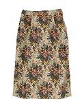 花柄ゴブラン織りタイトスカート M ベージュ