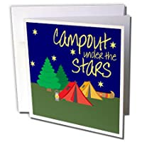 TNMGraphicsキャンプ – Campout under the stars – グリーティングカード Set of 6 Greeting Cards